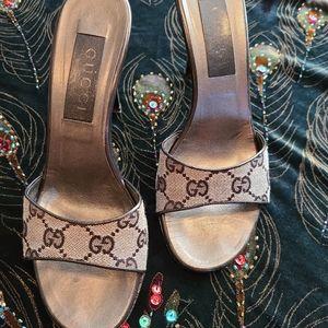 Gucci Monogram Heels